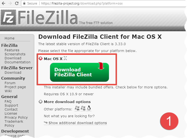 free download filezilla ftp server software for mac